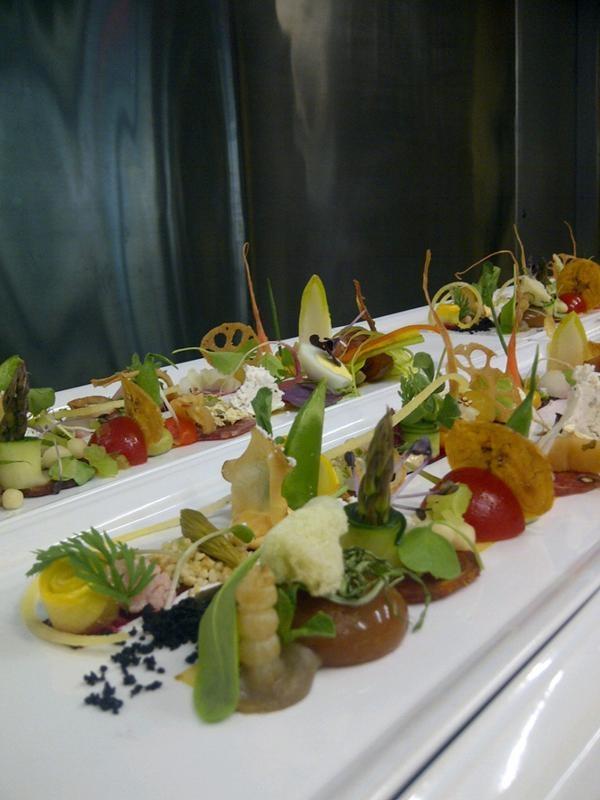 100 component salad at Atelier Restaurant, Ottawa.