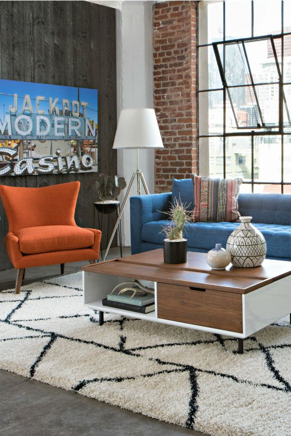 Mid Century Modern Tate Collection Modern Eclectic Living Room