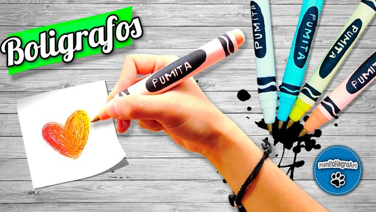 DIY   Boligrafos en forma de Crayola   PumitaNegraArt