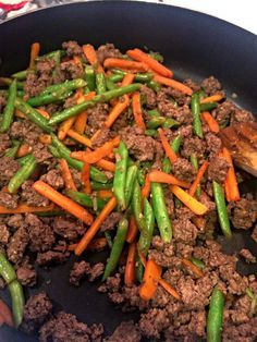 Poor Man's Stir Fry (ground beef, green beans, carrots) can serve over brown rice or quinoa. 21 Day Fix: 1 Green, 1 Red, and 1 Yellow