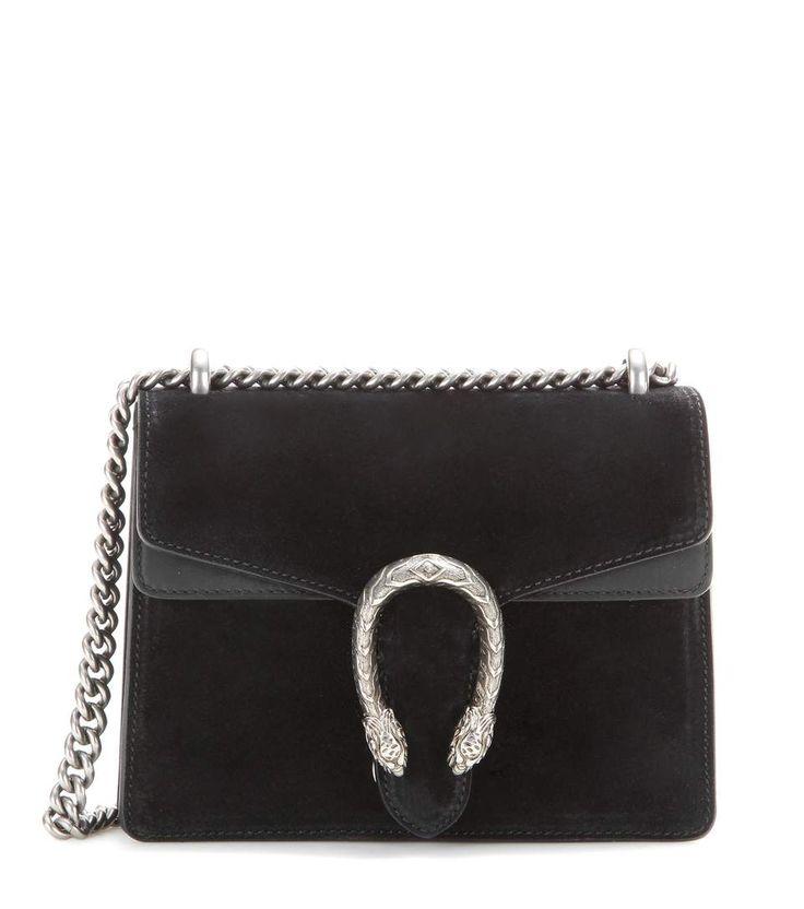 Dionysus Mini black suede shoulder bag. Black Gucci PurseSuede ...