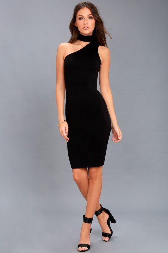 Glam Black Dress