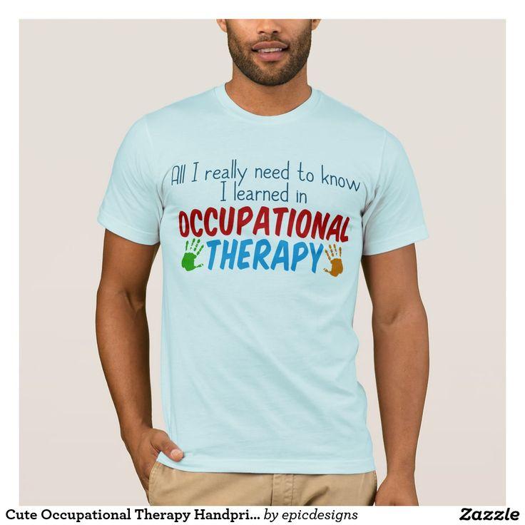 Cute occupational therapy handprints tshirt zazzleca
