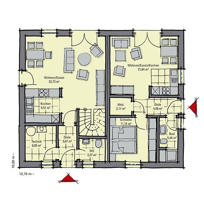 die besten 25 fertighaus mit einliegerwohnung ideen auf. Black Bedroom Furniture Sets. Home Design Ideas