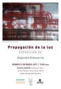 """En la galería resplandor: """"Propagación de Luz"""" de Alejandro Echeverría"""