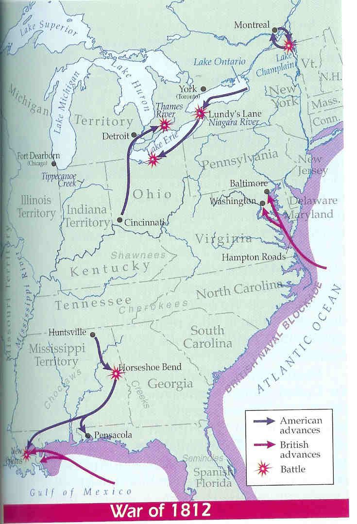 best war of images war of american war of 1812 map causes of the war of 1812
