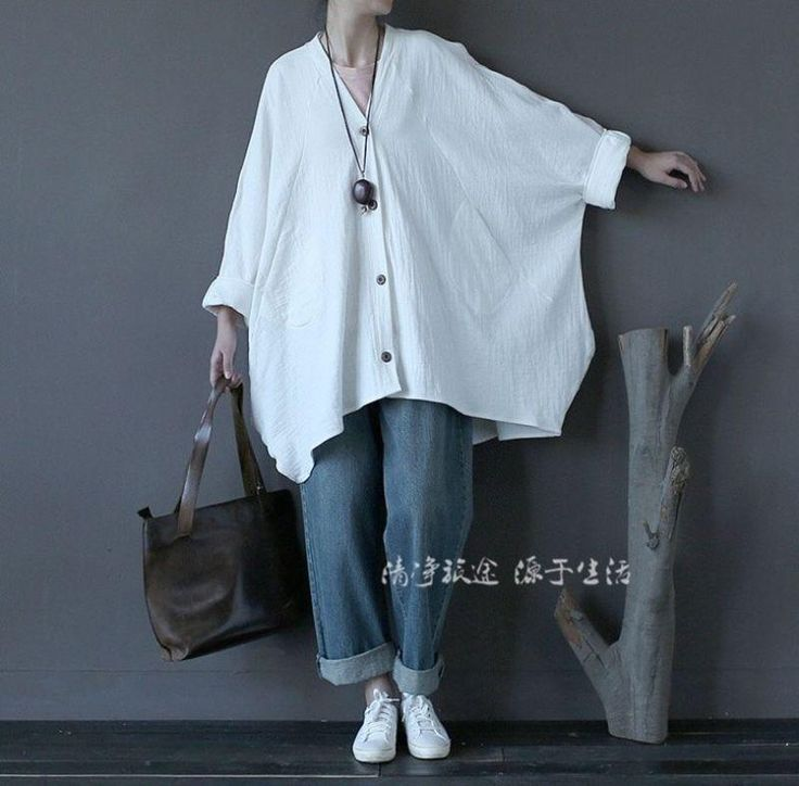 Women Spring Thin Tops Blouse Casual Oversize Double Layers Linen Bat Shirts Hot