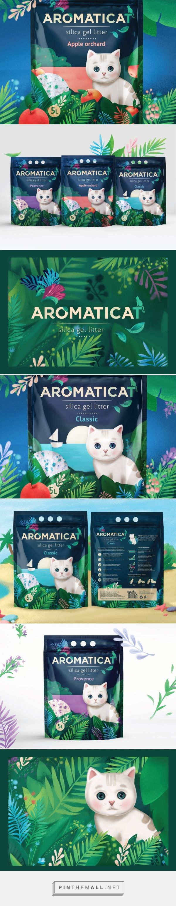 Cute Aromaticat cat litter packaging design by Dochery (Russia) - http://www.packagingoftheworld.com/2016/04/aromaticat.html