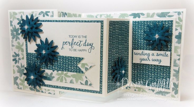 Hi Stampers, Happy Thursday friends !  I'm so excited you're here . Today we will be making the Double Z Fold card . I used a few brand new items on my cards today . I just love the greeting from the Bunch Of Blossoms stamp set #141573  and I love  the new Designer paper …
