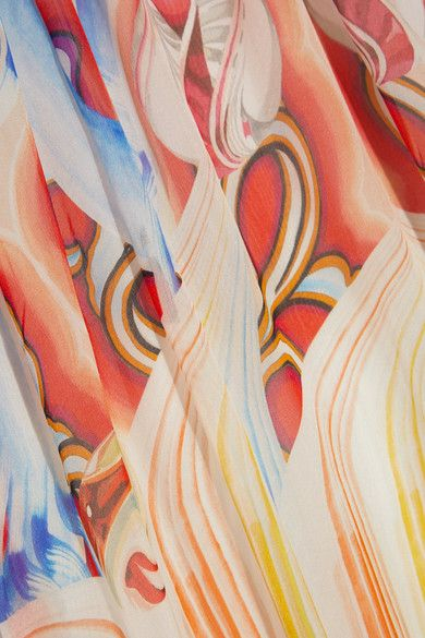Temperley London - Nymph Printed Silk-chiffon Halterneck Gown - Red - UK12