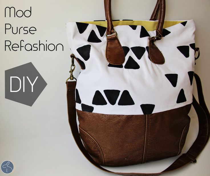 Crazy cool bag makeover! click to see it... do you have an old brown bag hanging around? Tutorial