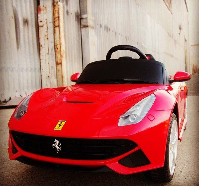 fancy ferrari berlinetta ride on car if your lil one isnt already spoiled enough