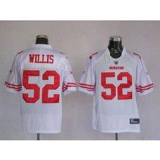 49ers #52 Patrick Willis Stitched White NFL Jersey