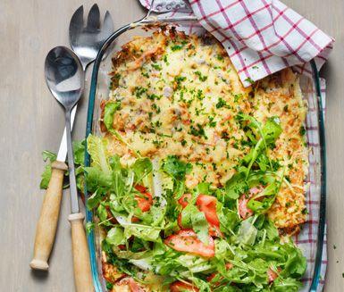 Ett annorlunda recept på pannkakor i ugn med champinjoner och skinka. För champinjoncrêpes behöver du bland annat lök, svamp, grädde och gratängost. Underbart gott till vardag och fest!