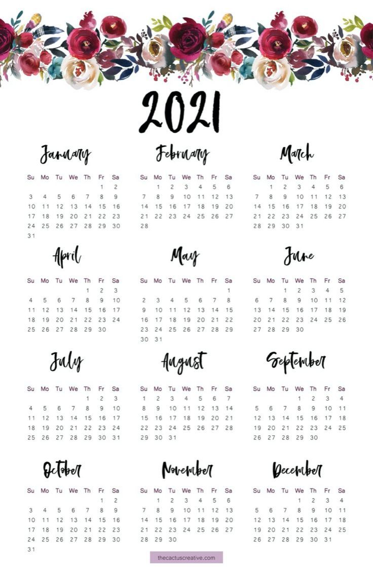 Images of Calendar 2021 -2020