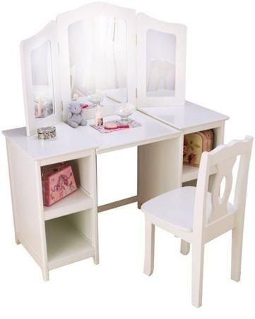 KidKraft Делюкс белый  — 31920р. ------------------------------- Туалетный столик Делюкс белый KidKraft для девочек старше 3 лет. Сделан из дерева. В комплект входит стул.