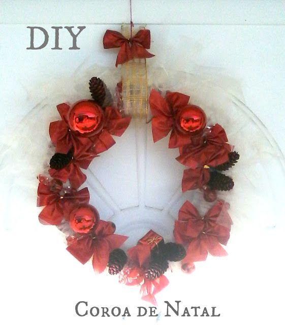 Frugal Mom and Housewife: DIY: Coroa de Natal