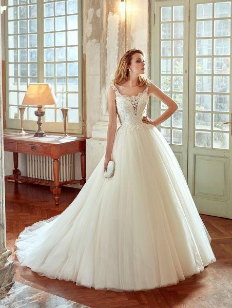 Vestidos de novia escote cuadrado 2017: Diseños que nunca pasan de moda Image: 9