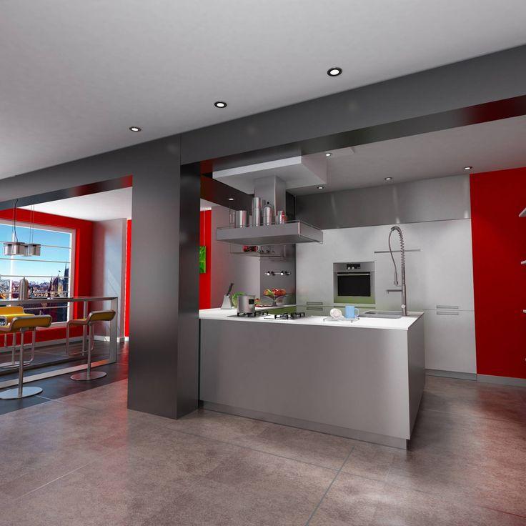 Μοντέρνα Κουζίνα | Σειρά Αίγλη   Η Αίγλη ανήκει στην κατηγορία των κουζινών βιομηχανικού σχεδιασμού.Πόρτες από mdf το οποίο βάφεται με πολυεστερική λάκα άοσμη ελαστική οικολογική σε αποχρώσεις του γκρι σε λεία γυαλιστερή ματ ή και σατινέ υφή με όμοια δομικά στοιχεία σε γκρι και λευκές αποχρώσε... #επιπλα #έπιπλα #epipla