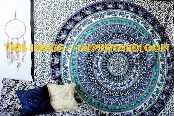 Hippie Spellbound Mandala Tapestry Dorm Room Psychedelic Tapestry