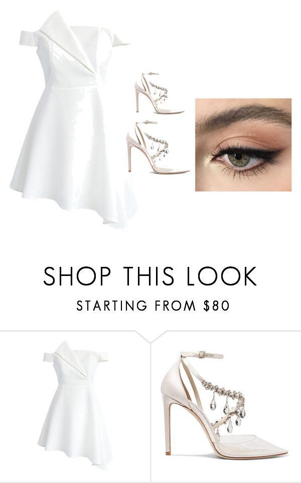 """spring outfit"" by jessiewhite-2 on Polyvore featuring Chicwish, Jimmy Choo and Stila"