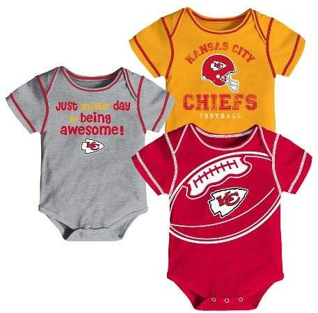 buy online cd009 a9691 NFL Kansas City Chiefs Baby Boys' Awesome Football Fan 3pk ...