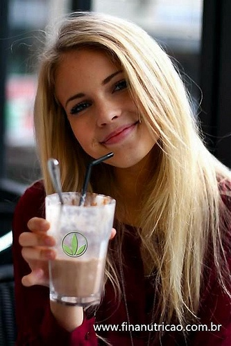 Image result for pretty girl drinking herbalife