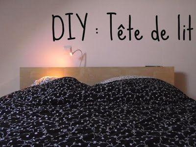 DIY : une tête de lit en 2 temps 3 mouvements!  IKEA http://lestribulationsdespipelettes.blogspot.fr/2013/05/tete-de-lit-ikea-diy.html