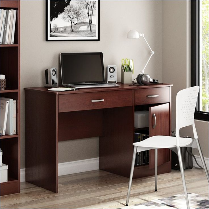 Axess Small Computer Desk in Royal Cherry - 7246070
