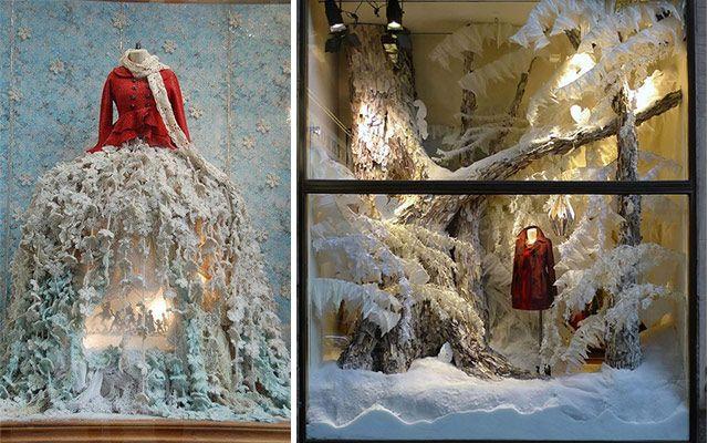 Ideas para decorar escaparates de invierno