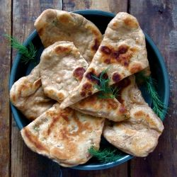 A healthy take on the traditional Naan bread - guilt free and delicious! :)
