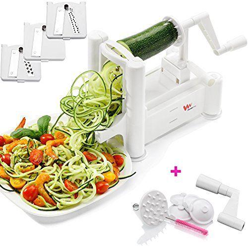Paderno World Cuisine A4982799 Tri-Blade Vegetable Spiral Slicer.