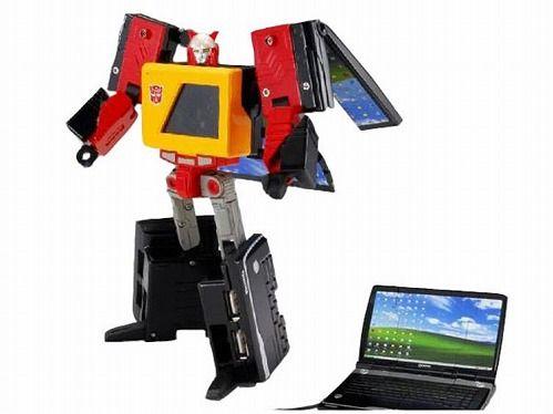 見事に変形するトランスフォーマーなUSBメモリ-、レーザーマウス、USBハブ 5