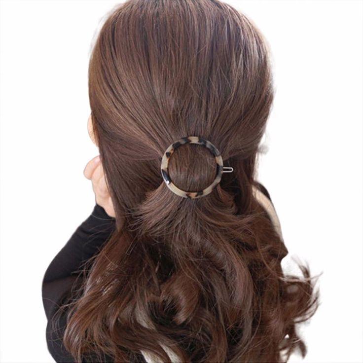 Geometric Triangle Ink Leopard Hairpin Hair Clips Hair Accessories JAN17