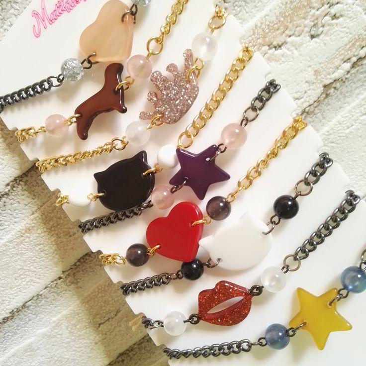 Let's have fun! Divertenti bracciali con soggetti in resina. 100% made in Italy. So funny bracelets by Matildesign