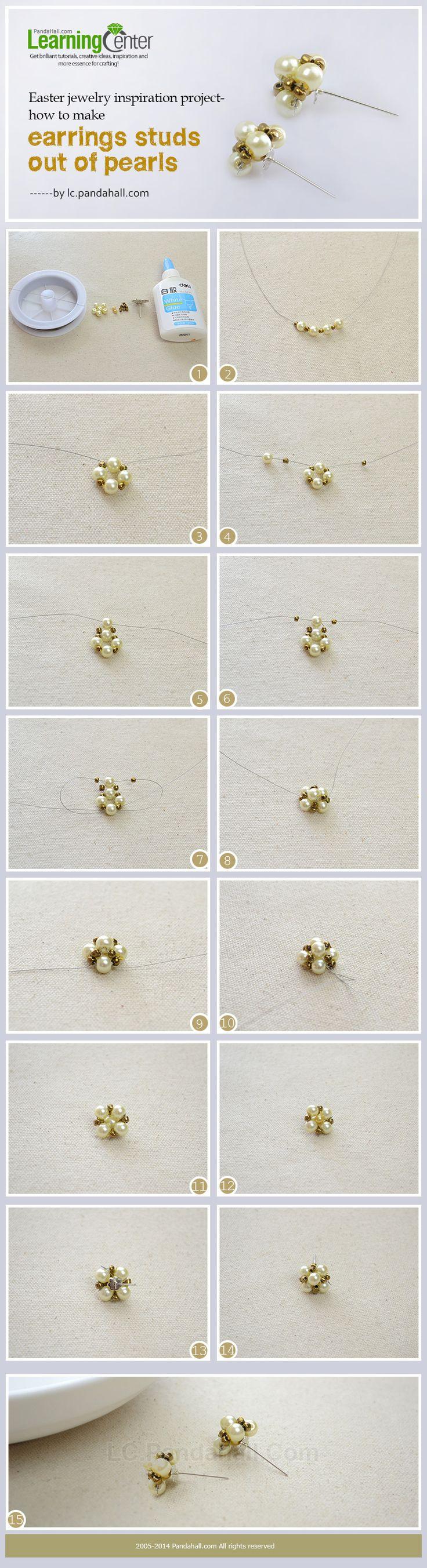 How do You Make Handmade Pearl Stud Earrings Step by Step (Diy Step Brick)