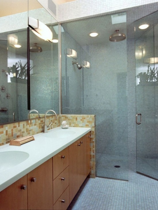 handicap accessible curbless shower home design ideas