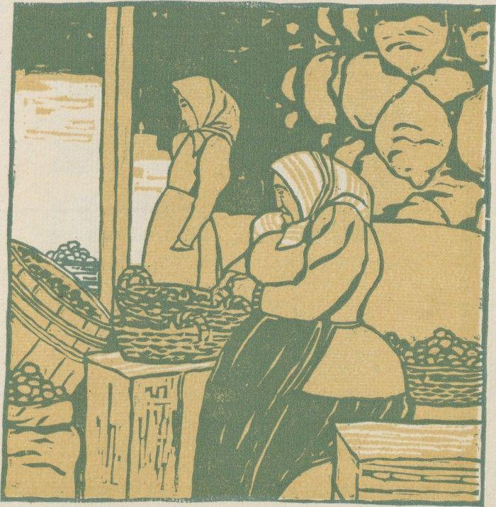 F. König, Erdäpfel-Händlerin vom Wiener Naschmarkt, Ver Sacrum, Volume 1, Number 11, 1 June 1903