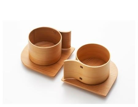 Contemporary Japanese bamboo cups by Kordzi