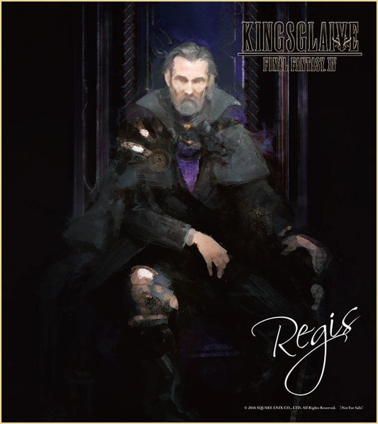 Final Fantasy 15 XV KINGSGLAIVE Regis Mini Autograph Movie Limited NFS Game F/S