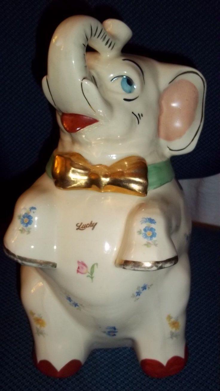 17 best ideas about vintage cookie jars on pinterest cookie jars antique cookie jars and - Vintage elephant cookie jar ...