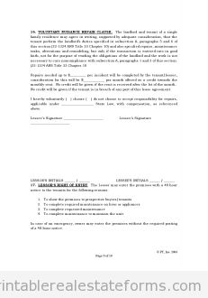 Free Standard Lease Agreement Printable Real Estate Forms