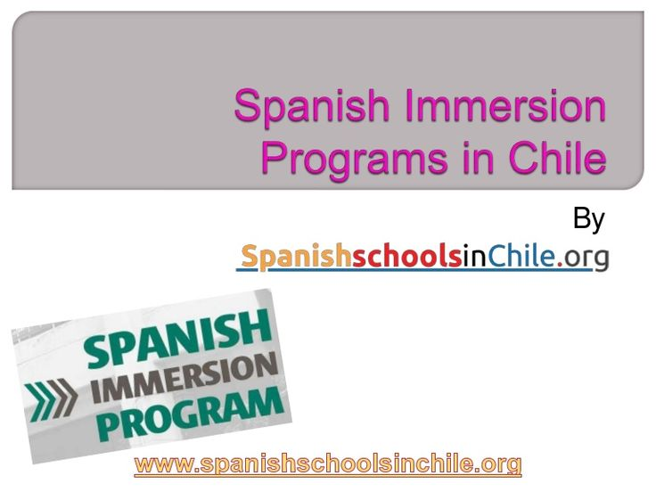 Spanishschoolsinchile.org offers best Spanish immersion programs in Chile. Visit here for complete information.