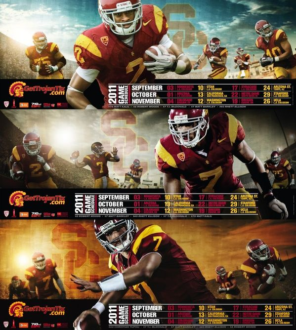 Trojan 2011 Football Schedule Posters