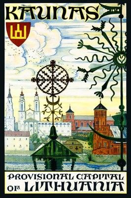 Kaunas Lithuania Baltic Sea Europe Travel Tourism Vintage Poster Repro Free $14.85 | eBay