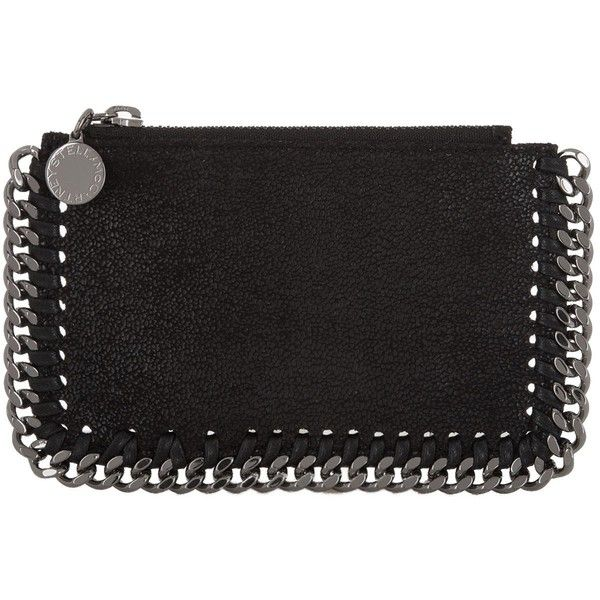 Stella McCartney Falabella Card Holder ($255) ❤ liked on Polyvore featuring bags, wallets, stella mccartney bag, card holder wallet, vegan leather wallet, coin bag and stella mccartney wallet