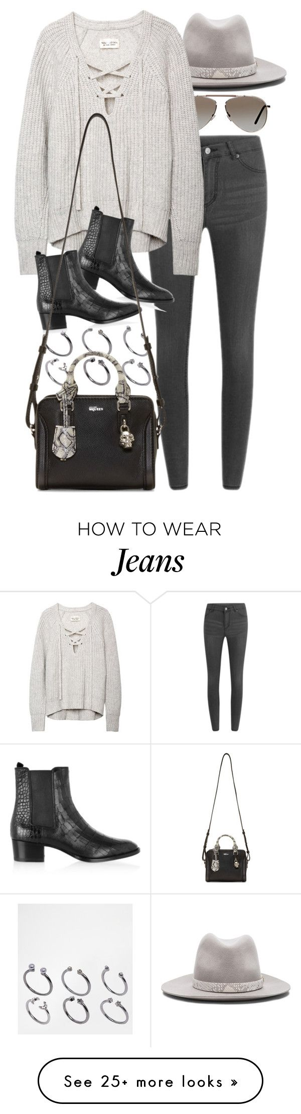 """Untitled #7893"" by nikka-phillips on Polyvore featuring Tom Ford, rag & bone, ASOS, Cheap Monday, Yves Saint Laurent and Alexander McQueen"