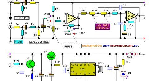 Car Subwoofer Amplifier Circuit Diagram Pdf  Subwoofer