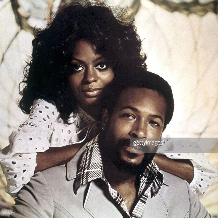 Photo of Marvin GAYE and Diana ROSS; Posed portrait of Diana Ross and Marvin Gaye,