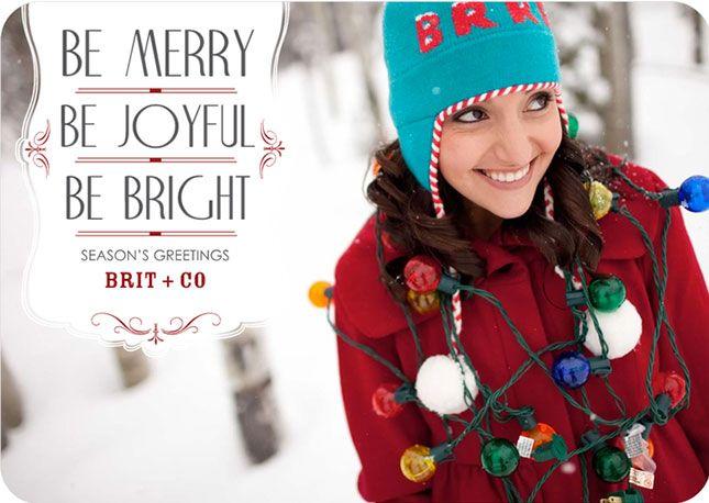 The Five Best Websites for Designing Custom Holiday Cards via Brit + Co.